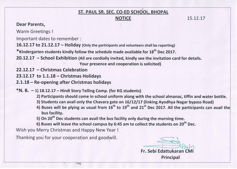 St Paul Senior Secondary School Bhopal